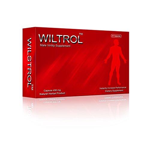 Supplément extrêmement puissant par Wiltrol mâle vitalité® - Pilules amélioration performances sexuelles - Complément alimentaire - booster testostérone - meilleur stimulant sexuel pour les hommes n° 1 dans l'UE - 10 gélules certifié BPF