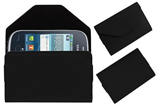 Acm Premium Pouch Case For Samsung Rex 70 S3802 Flip Flap Cover Holder Black  available at amazon for Rs.389