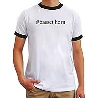 Maglietta Ringer #Basset Horn Hashtag