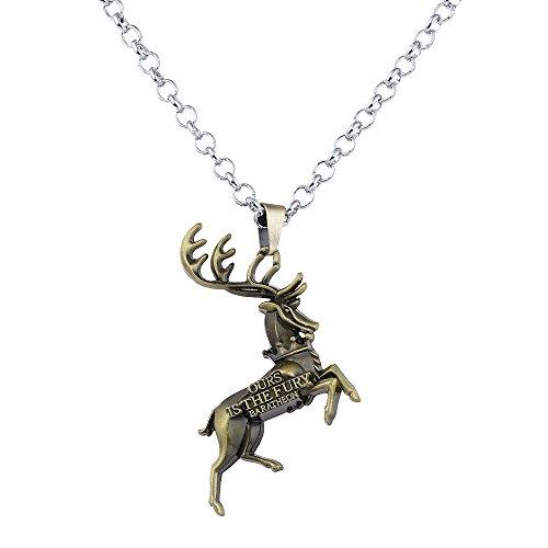 Lureme Spiel der Throne Baratheon Anhänger Halskette-Antike Bronze (nl005387-1)