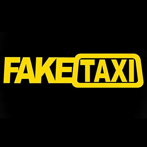 Funnyrunstore FAKE TAXI falso taxi deriva signo divertido auto pegatinas comercio exterior venta caliente Europa y América FAKE TAXI auto pegatinas