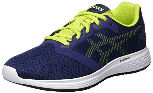 Asics Patriot 10 GS, Scarpe da Running Unisex-Bambini, Blu (Deep Ocean/Flash Yellow 401), 39 1/2 EU