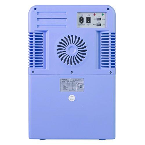 iceQ 15 Litre Deluxe Portable Mini Fridge With Window – Blue