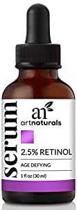 ArtNaturals Sérum VitamineC Biologique 29ml et Sérum 2,5% VitamineA (Rétinol) 29ml - Set Cadeau Spécial Vacances - Anti-Rides et Anti-Cernes Idéal (Soin Anti-Âge Matin et Soir)