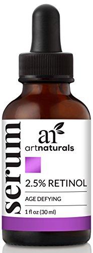 ArtNaturals Sérum De Retinol - (1 Fl Oz / 30ml) - 2.5% Con 20% De Vitamina C Y Ácido Hialurónico. Sérum Antiarrugas Y Antienvejecimiento Para Rostro Y Pieles Sensibles.
