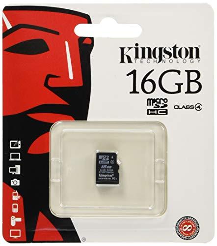 Kingston SDC4/16GB microSDHC 16GB bis zu 4MB/s Klasse 4 Speicherkarte -