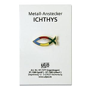 """°° Metall-Anstecknadel, """"Fisch Regenbogen"""""""