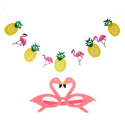 Gazechimp-1pc-Bandera-Colgando-Diseo-con-Pia-y-Flamingo-Decoracin-de-Fiesta-de-Fruta-de-Noche-de-Verano-1Par-de-Gafas-Forma-de-Flamingo