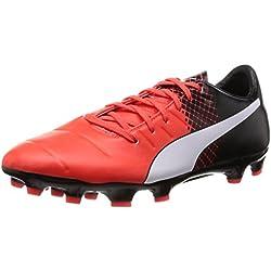 Puma Evopower 3.3 AG, Scarpa da Calcio Man (Football), Red Blast White Black, 9