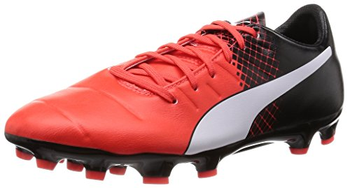 Puma Evopower 3.3 Tricks AG, Scarpe da Calcio Uomo Red Blast/Puma White/Puma Black