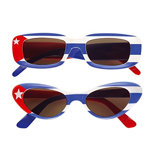 Preisvergleich Produktbild Widmann 6657H - Brille Kuba, blau / wei / rot
