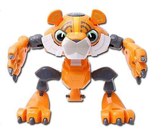 Preisvergleich Produktbild Value & Value 12 Animal Heroes Serie Hota Premium (Tiger) Actionfigur Transformierbar in einen Roboter oder eine Handwaffe
