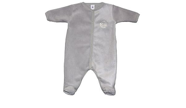 75fb1081f853f Petit Bateau - Sur-Pyjama en polaire - 1 mois - Rocher: Amazon.fr: Bébés &  Puériculture