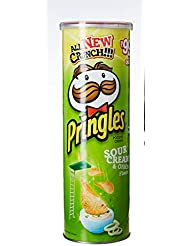 Pringles Potato Chips, Sour Cream and Onion, 110g
