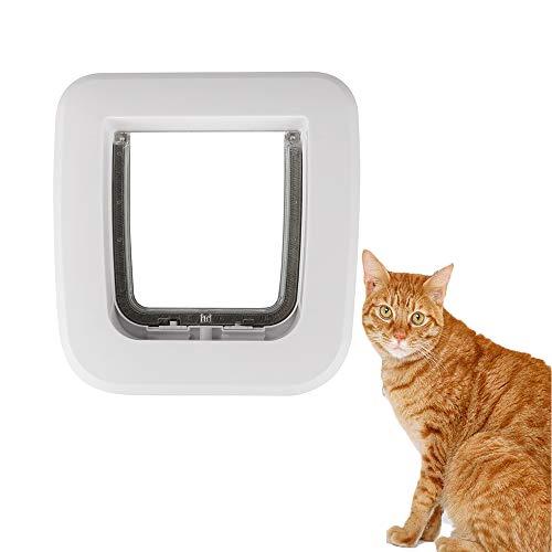 FXQIN Puerta abatible para Gatos, Puerta magnética Inteligente para Mascotas, Disponible en Gatos, Perros pequeños, ajustes para Puertas corredizas de Vidrio, Ventana de Vidrio