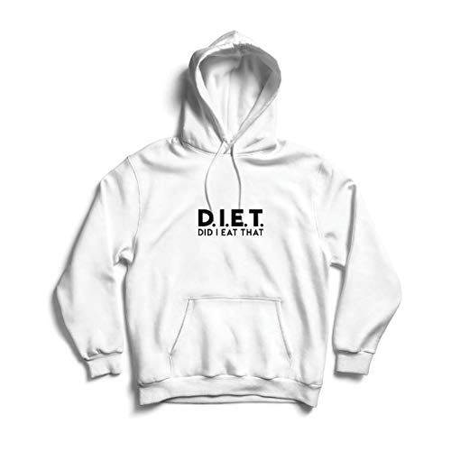 lepni.me Kapuzenpullover Diät - Habe ich das gegessen? Lustige Übung, Gymnastik, Workout-Spruch (XX-Large Weiß Mehrfarben)