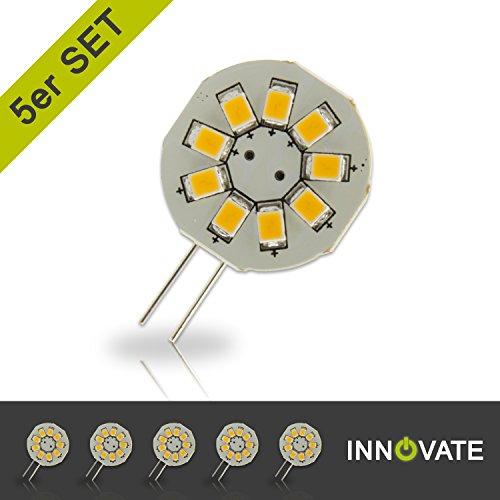 10w Ersatz (INNOVATE G4 Sockel ([ 5er Pack / Set ] G4 LED Stiftsockel-Lampe Leuchtmittel 9SMD / 1.5W - Ersatz 10W, warmweiss - 3000K, 120 Lumen, 120° Abstrahlwinkel))
