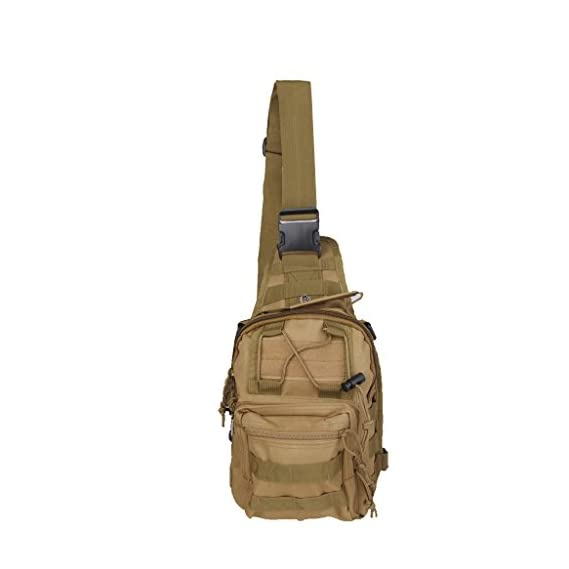 Generic Impoted Outdoor Shoulder Military Tactical Backpack Camping Hiking Bag - Tan