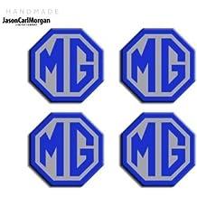 JasonCarlMorgan MG ZR LE500 - Tapacubos de aleación (45 mm), Color Azul y
