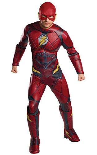 Justice League Movie Deluxe Flash Adult Costume, (Deluxe Adult Kostüme Standard)
