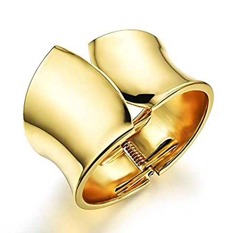 Fate Love Jewellery American Style 35mm Width Open Cuff Bangle Bracelet Gold Plated Fashion Women Jewelry