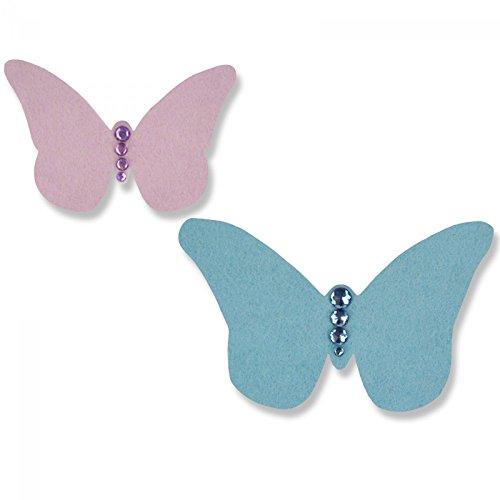 Sizzix Vintage farfalla by Sophie Guilar Bigz, Plastica ABS/Carb Compliant legno/steel-rule lama/Long Lasting espulsione Schiuma, Multicolore