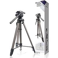 Cavalletto foto/videocamera in alluminio 170cm anche per tutti i modelli Nikon Coolpix L5L19L21L22L25L27S31I27P100L110L120S220P510P520i610L810L820S2500S3000S3500P6000S6500S9500D40D60D80D90D200D300S D300D500D700D3000D3100D3200D5000D5100e anche Canon EOS 1d Mark IV 5d 7d 20d 40d 50d 60d 350d 450d 500d 550d 600d 650d 1000d 11003000d 3100d 5000d