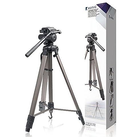 Aluminium Foto / Video Kamera Stativ 170cm für alle Nikon Modelle auch Coolpix L5 L19 L21 L22 L25 L27 S31 I27 P100 L110 L120 S220 P510 P520 I610 L810 L820 S2500 S3000 S3500 P6000 S6500 S9500 D40 D60 D80 D90 D200 D300S D300 D500 D700 D3000 D3100 D3200 D5000 D5100 und auch Canon EOS 1D Mark IV 5D 7D 20D 40D 50D 60D 350D 450D 500D 550D 600D 650D 1000D 1100 3000D 3100D