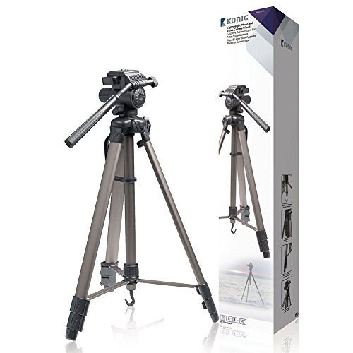 Aluminium Foto / Video Kamera Stativ 170cm für alle Nikon Modelle auch Coolpix L5 L19 L21 L22 L25 L27 S31 I27 P100 L110 L120 S220 P510 P520 I610 L810 L820 S2500 S3000 S3500 P6000 S6500 S9500 D40 D60 D80 D90 D200 D300S D300 D500 D700 D3000 D3100 D3200 D5000 D5100 und auch Canon EOS 1D Mark IV 5D 7D 20D 40D 50D 60D 350D 450D 500D 550D 600D 650D 1000D 1100 3000D 3100D 5000D