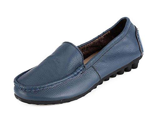 Donne Loafer Scarpe Singole Scarpe Madre Scarpe Comode Morbide Scarpe Da Corsa Antiscivolo Blue