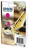 Epson C13T16334012  Original Tintenpatrone Füller, wisch- und wasserfeste Tinte 16XL (Singlepack) magenta für Epson C13T16334012  Original Tintenpatrone Füller, wisch- und wasserfeste Tinte 16XL (Singlepack) magenta