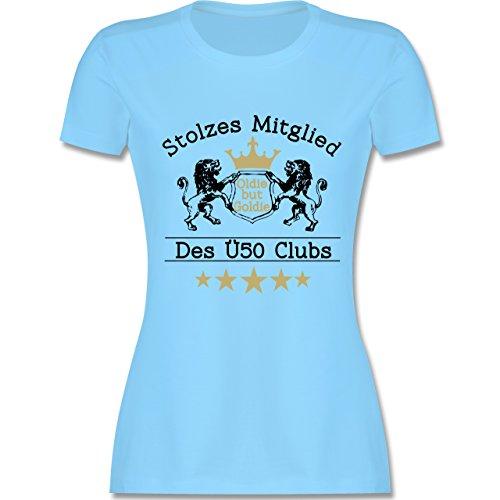 Geburtstag - 50. Geburtstag Stolzes Mitglied des Ü50 Clubs - tailliertes Premium T-Shirt mit Rundhalsausschnitt für Damen Hellblau