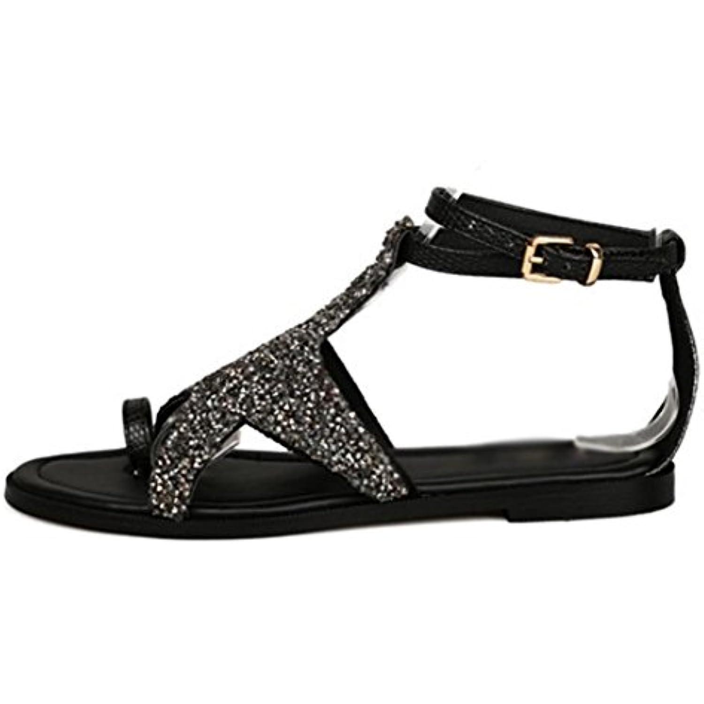 Jeux de pieds sandales plates et sandales pantoufles étoiles épais avec des étoiles pantoufles tendon de diamant chaussures à semelle... - B01IBWHJBG - 46953c