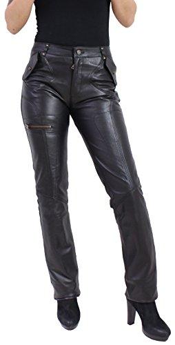 "*NEU* Damen Lederhose ""INSPIRIT"" von RICANO aus Echt Nappa Leder (schwarz) (L)"
