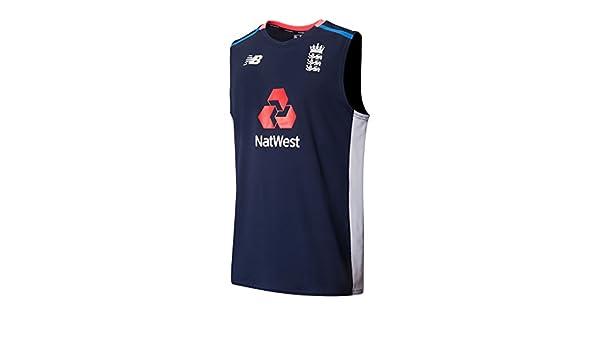 60701e85b3ba2 New Balance England Cricket Sleeveless Training T-Shirt  Amazon.co.uk   Clothing