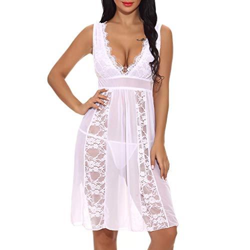 23103d63705 Luckycat Ropa Interior Mujer, Lencería Sexy Lencería de Noche para Mujer  Ropa Interior Picardias Cordón