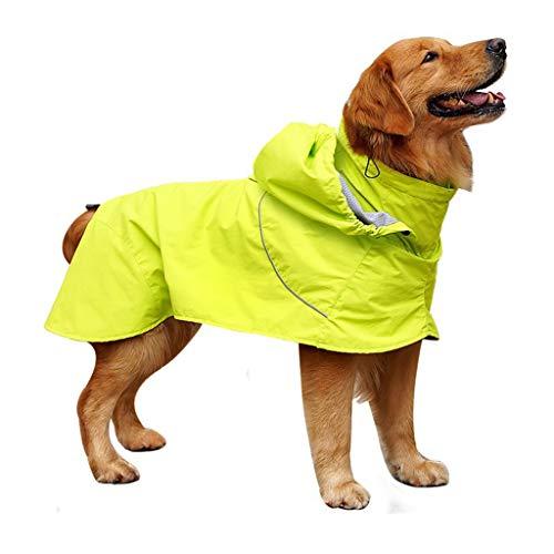 Hawkimin Haustier Pullover Großer Hund Golden Retriever Mit Kapuze Beine Wasserdichter und regendichter (Hund Kostüme Mit Beinen)