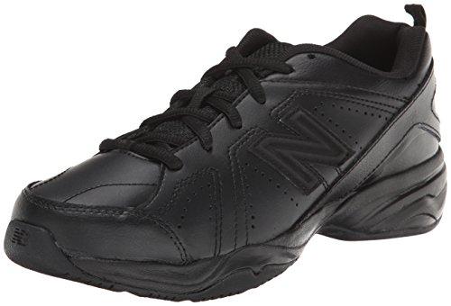 New Balance KX624 garçons Cuir Baskets Black