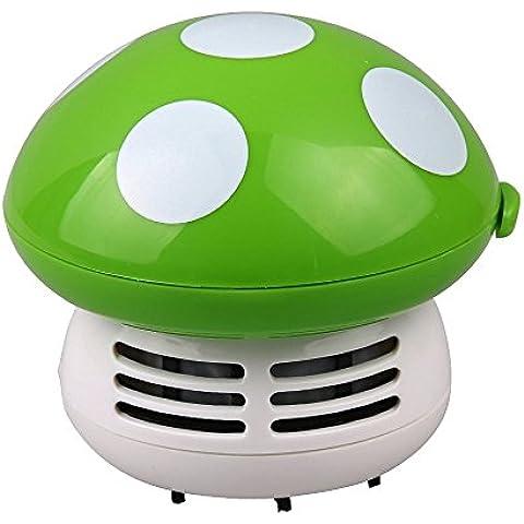 Mini Aspiradoras Aspiración de Polvo Mesa Escritorio Forma de Setas Esquina Limpio Barredora Linda - Verde