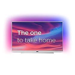 Philips Ambilight 58PUS7304/12 Fernseher 146 cm (58 Zoll) Smart TV (4K, LED TV, HDR 10+, Android TV, Google Assistant, Alexa kompatibel, Dolby Atmos) Hellsilber