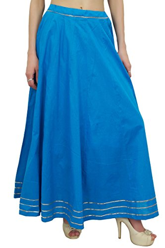 Bimba Falda Azul Marino Mujer Ethnic Gota Patti Design