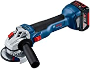 Bosch Professional GWS 18V-10 Cordless Small Angle Grinder (Brushless Motor, 100mm) (Blue)