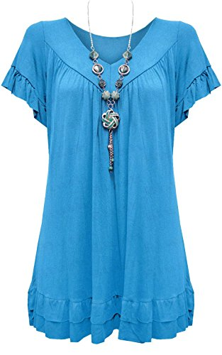 New Ladies Womens Gypsy Frill Hippy Top UK SIZE 12-30