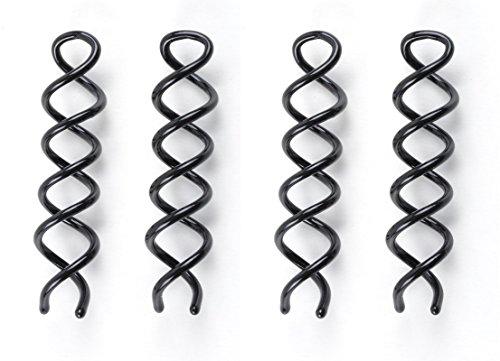 LUQX Hair Scroo Haarschraube 2 x 2 Stück (in diversen Varianten) (schwarz)