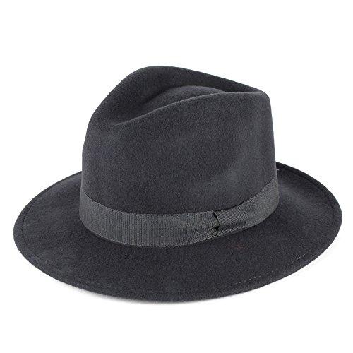 Hat To Socks Chapeau en Feutre Fedora Laine avec Ruban Gros Grain Fait la Main en Italie