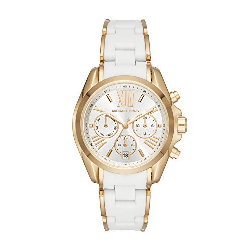 Michael Kors Damen Analog Quarz Smart Watch Armbanduhr mit Edelstahl Armband MK6578