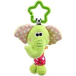 Lalang Nette Tier Baby Plüschtiere, Kleinkindspielzeug,Beschwichtigen Schlaf Spielzeug, Kinderwagen Hängende Spielzeug Campanula, der Spielzeugauto-Drehmaschine hängenden Baby Rasseln (grün)
