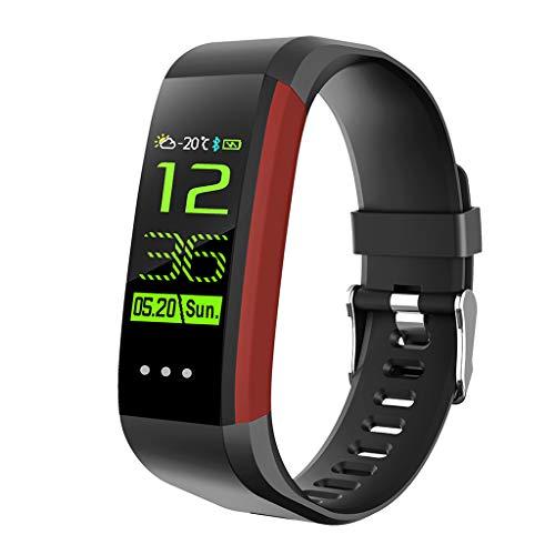 WLPT Fitness Smartwatch, Armband-Blutdruck-Puls-Monitor Smartwatch wasserdichte GPS Fitness Tracker Männer Frauen Kinder Armband CK16,Rot