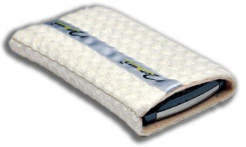 Norrun Handytasche / Handyhülle # Modell Wala # ersetzt die Handy-Tasche von Hersteller / Modell Samsung SGH-S500i # maßgeschneidert # mit einseitig eingenähtem Strahlenschutz gegen Elektro-Smog # Mikrofasereinlage # Made in Germany