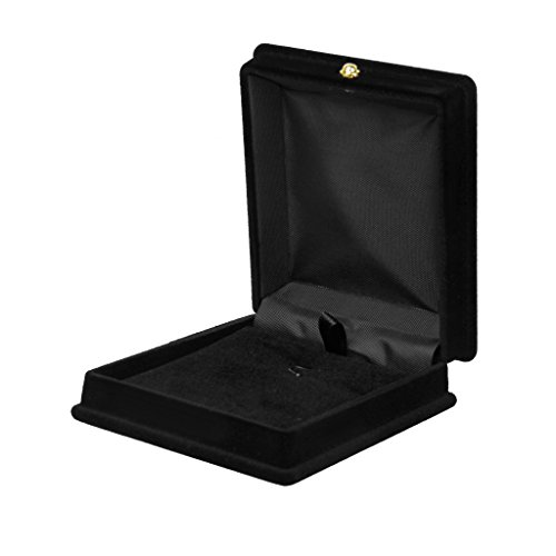 Velluto Nero Scatola Pendent Confezioni Esposizione Collana Catena Gift Box - Floccato Collana